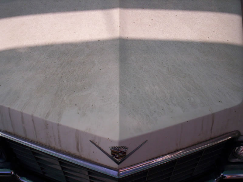 1968 Cadillac Front Hood View Before