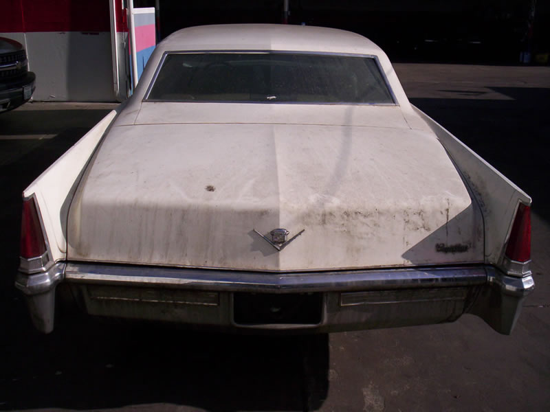 1968 Cadillac Rear View Before