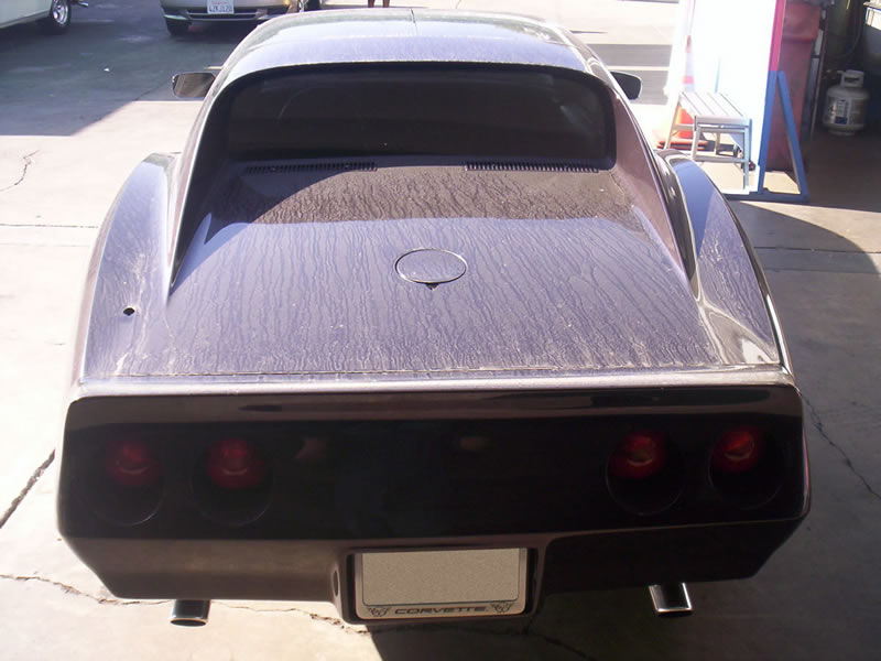 1970 Corvette Stingray Rear View Before