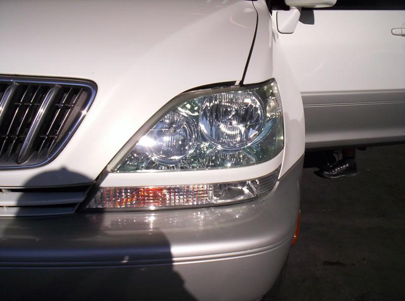 Lexus RX Headlights After Restoration Left Headlight View