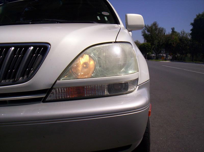 Lexus RX Headlights Before Restoration Left Headlight View