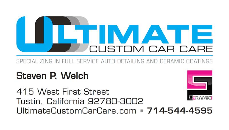 Ultimate Custom Car Care Business Card